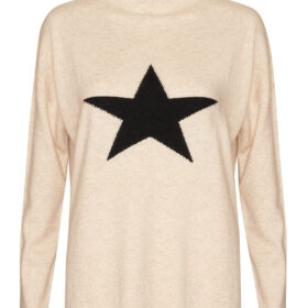 Taupe with Black Star